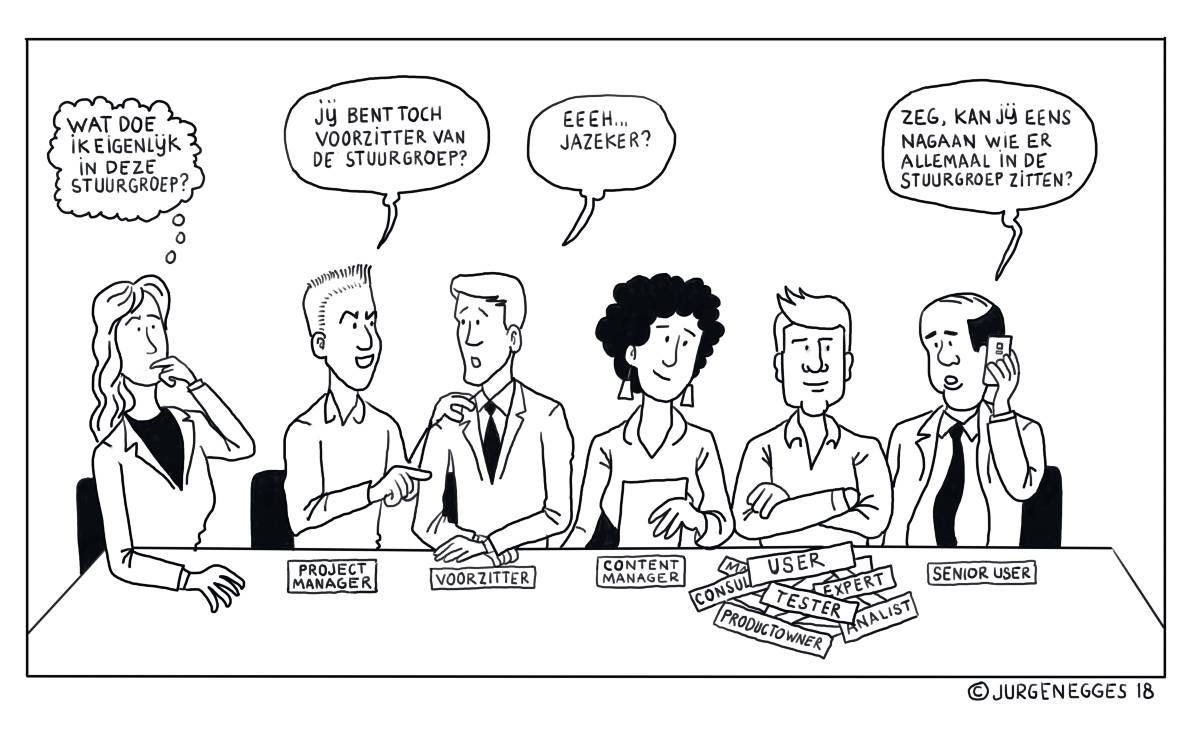 Cartoon Projectmanagement Rollen